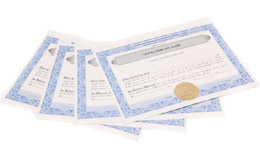 Stock / Membership Certificates